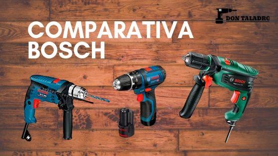 Taladros percutores marca Bosch