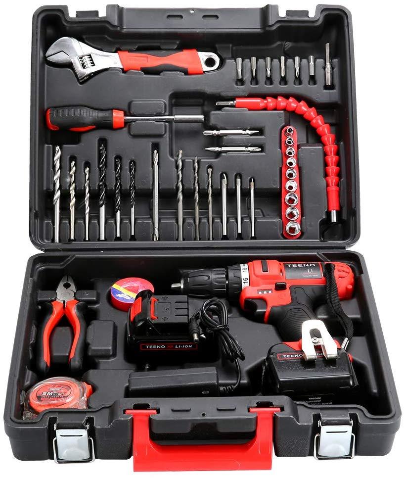 kit de taladro y herramientas, el más vendido de la marca Teeno