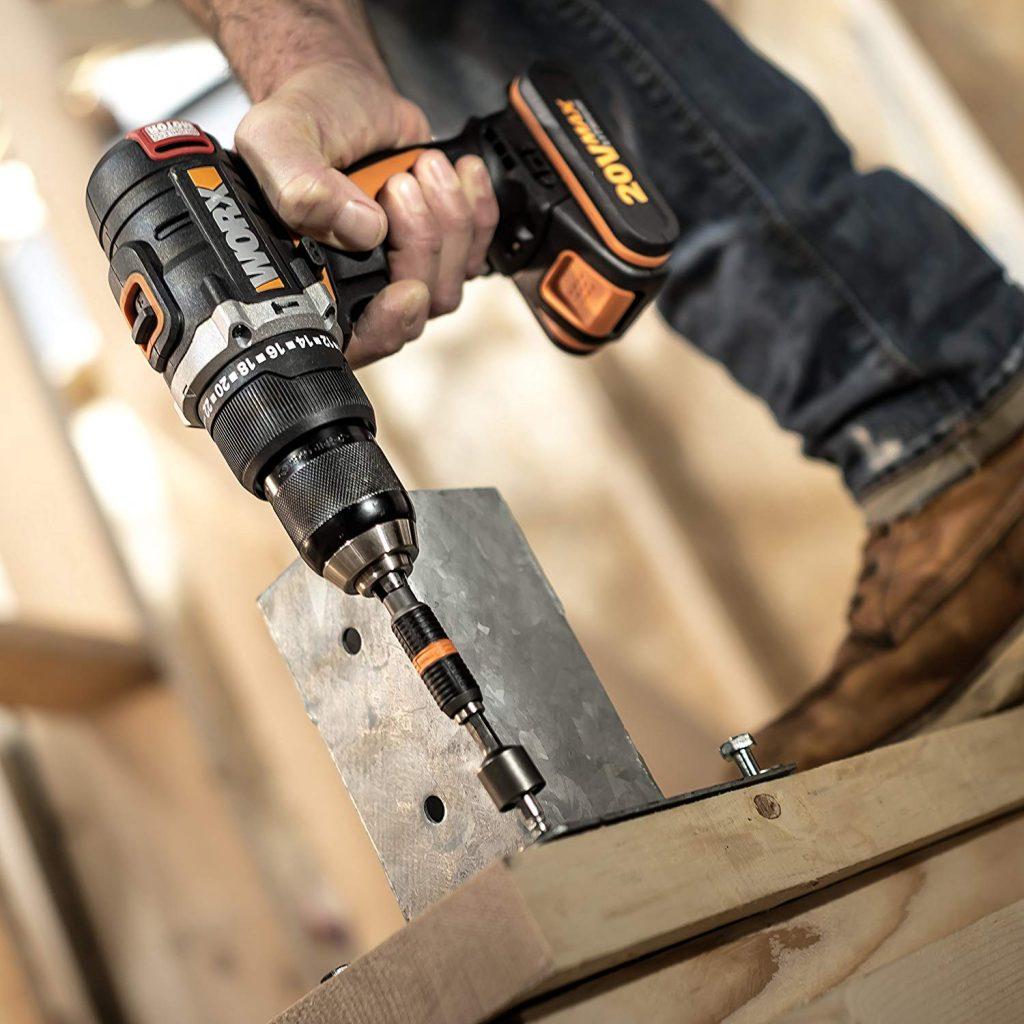 El taladro percutor WORX es uno de los favoritos por su relación calidad precio